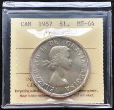 1957 Canada Silver $1 Dollar Coin ***ICCS Graded MS-64***