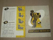 Prospectus Moteur BERNARD W9 à W14 1951 Motor Tracteur traktor brochure