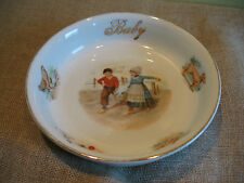 VINTAGE PORCELAIN DUTCH CHILDREN BABY PLATE