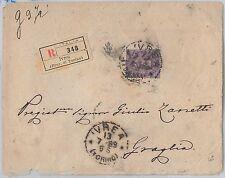 57065 - ITALIA REGNO - STORIA POSTALE :  Sass 42  isolato su BUSTA   1889