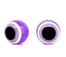 Lot 10 Perle Oeil Violet 10mm oeil Turc, creation bijoux, bracelet, collier