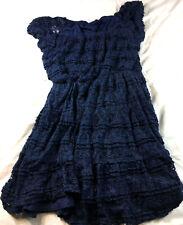 Trixxi navy blue lace dress, size L