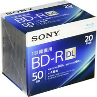 20 Sony 4x Bluray 50GB BD-R DL Inkjet Printable Bluray Blank Disc With Tracking