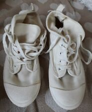 Divided SIZE 40, USA 9. Cream canvas  High top trainers. Worn once.