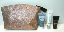 IPSY Bag with Makeup Mask Primer MAC Prep + Prime Lot Pink Sparkle NEW