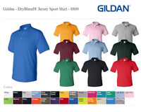 Gildan DryBlend Mens Polo Shirt Jersey T-Shirt All Colors 8800 S-4XL