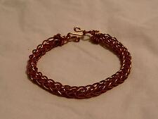 Non-Tarnish Copper Braided Viking Style Bracelet