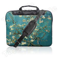 """TaylorHe 15.6"""" 15"""" Laptop Shoulder Bag Carry Case Handles Strap Vintage Blossom"""
