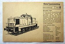 DDR Kleine Typensammlung Schienenfahrzeuge - Diesellok V 60