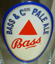 BASS PALE ALE BEER ADVERTISING GLASS FREE USA S&H! LOOK AT MY OTHER GLASSES!!!!!