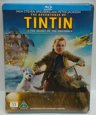 TinTin Adventures Of Tin Tin Secret Of The Unicorn Blu-ray STEELBOOK - NEW