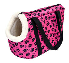 Pink Paw Print Small Pet Carrier Tote Bag
