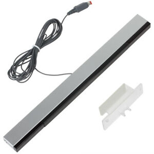 Wired Infrared Ray IR Sensor Bar For Nintendo Wii / Wii U / PC + Stand