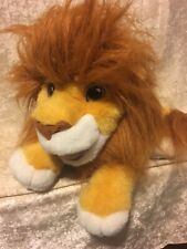 Vintage 1993 Mattel Disney Lion King Roaring Simba Plush Puppet WORKS