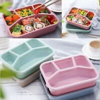Wheat Straw Lunch Box Food Container Lunch Boxes With 4-Compartment Microwave