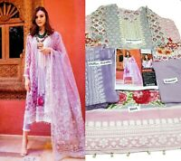 Pakistani Indian Designer embroidered 3pcs Suit Shalwar / Salwar Kameez Stitched