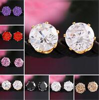 Fashion Jewelry 1 Pair Women Lady Elegant Crystal Rhinestone Ear Stud Earrings