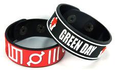 30 SECONDS TO MARS GREEN DAY NEW! 2pcs(2x) Rubber Bracelet Wristband ww116