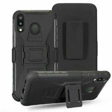 For Samsung A50S A30S A20S A10S Rugged Armor Case Stand Cover Belt Clip Holster