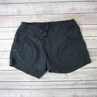 KOPPEN Women's Zip Cargo Drawstring Shorts SIZE S Small Black