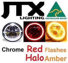 "7"" CHROME Head Lights Austin Healey Sprite A30 Bugeye Frogeye 3000 Mk1 Mk2 100"