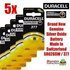 5 PCS DURACELL SR626SW 377 1.55V SILVER OXIDE BATTERY FOR WATCH NEW & GENUINE
