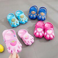 Infant Kids Baby Boys Girl Cartoon Paw Cute Hollow Beach Sandals Casual Shoes UA