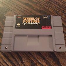 Wheel Of Fortune Deluxe Edition Super Nintendo SNES Cart Works SN1