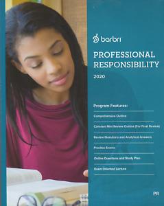 2020-NEW-BARBRI PROFESSIONAL RESPONSIBILITY BOOK