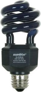 Sunlite 05439-SU CFL Black Spiral Light Bulb Blacklight 20 Watts 120 Volts