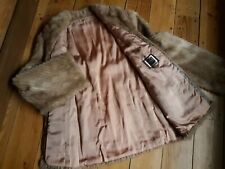 Saga Mink Fur Jacket/Coat Warm Gorgeous Sexy Luxurious Size Large L