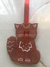DECORAZIONI di Natale Pan Di Zenzero Uomo CAT TREE DECORATION