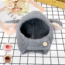 Soft Fleece Winter Warm Pets Dog Cat Hat Cute Costume Windproof Cap Grey Pink