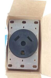 Eaton 1263-BOX Flush Receptacle 30A-125V 2-Pole 3-Wire Grounding NEW