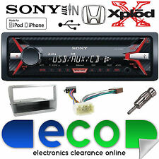Honda Civic 2000-2006 cdx-g1100u CD MP3 USB AUX per Stereo Auto Argento Kit di montaggio