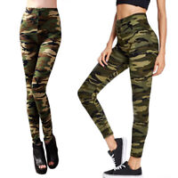 Women Camouflage Stretchy High Waist Fitted Gym Training Tight Pants Legging