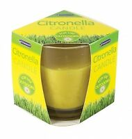 Chatsworth Citronella Glass Candle Fragranced Outdoor garden patio bbq camping