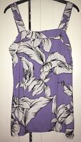 RRP £12 Lilac Purple And White Floral Cami Top Size 6-8 Worn Once F&f