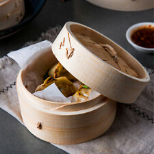 Traditional Chinese Bamboo Steamer Baskets Kitchen Cooking Utensils 1-Tier 15cm