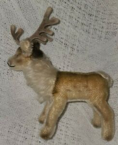 """Steiff Vintage Renny Reindeer, 5"""" Tall, Button Intact, No Tags"""