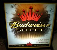 VTG 2005 BUDWEISER SELECT 99 CALORIES LIGHTED BEER SIGN GOOD USED CONDITION