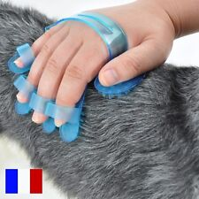 Gant Brosse Toilettage Chien Chat Furet et Animaux Elimine Poils Massage Peigne