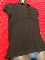 Burberry London Semitransparent Silk Shoulder Short Sleeve Sweater Size Small