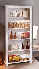 Libreria in legno massello bianco 87 x 180 cm