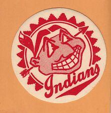 VINTAGE 1950's CLEVELAND INDIANS 4 inch LOGO PATCH Unused