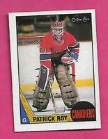 1987-88 OPC # 163 CANADIENS PATRICK ROY 2ND YEAR NRMT CARD (INV# D0469)