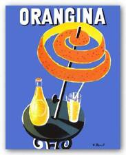 Orangina Bernard Villemot Advertising Art Print 20x16