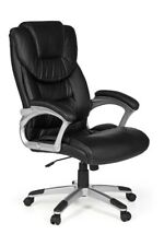 Bürostuhl MADRID Bezug Kunstleder Schwarz Schreibtischstuhl 120 kg SPM1.225