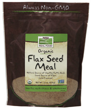 Flax Seed Meal Organic Now Foods 22 oz (624 g) Powder