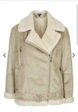Topshop Sloane Aviator Jacket Size 10